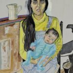"Alice Neel, Ginny and Elizabeth, oil on canvas, 42"" x 30"", 1975. © Estate of Alice Neel."