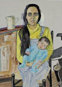 "Alice Neel, Ginny and Elizabeth, oil on canvas, 42"" x 30"", 1975. © Estate of Alice Neel."